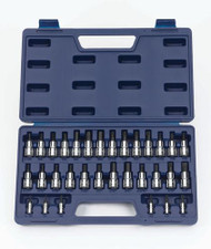 "Williams 1/4"" & 3/8"" Dr Hex, Screwdriver & Torx Bit Socket Set 32 Pcs & Tool Box - 50681"