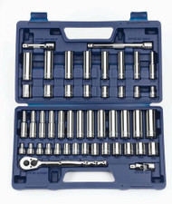 "SAE & MM Williams 3/8"" Dr Shallow & Deep Socket & Tool Set 6 Pt & 12 Pt 47 Pcs - 50666"