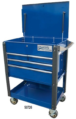 "30"" Williams Service Cart Heavy Duty Industrial Cart - 4 Drawer 50726"
