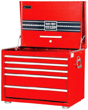 """26"""" Williams Extra-Heavy Duty Roadbox - 5 Drawer - Red 50946RED"""