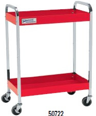 "30"" Williams Service Cart - 2 Drawer - Red 50722"