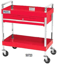 "30"" Williams Service Cart with Locking - 2 Drawer- Red 50723"