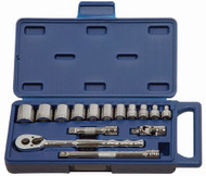 "Williams 3/8"" Drive Socket and Drive Tool Set - 6 Pt - 15 Piece 50663"