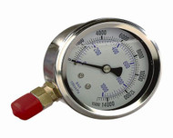 "Williams 4"" Face Diameter Liq Gau 1/4""f - 8G04W"