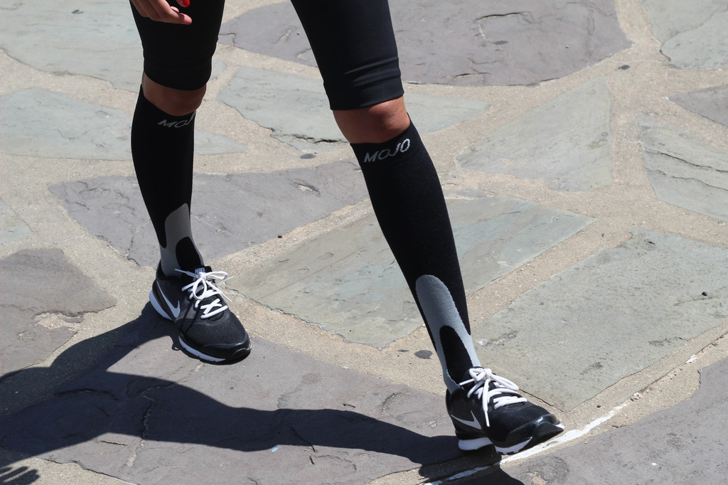 Mojo Elite Coolmax Recovery & Performance Compression Socks -- Firm Support (20-30mmHg)
