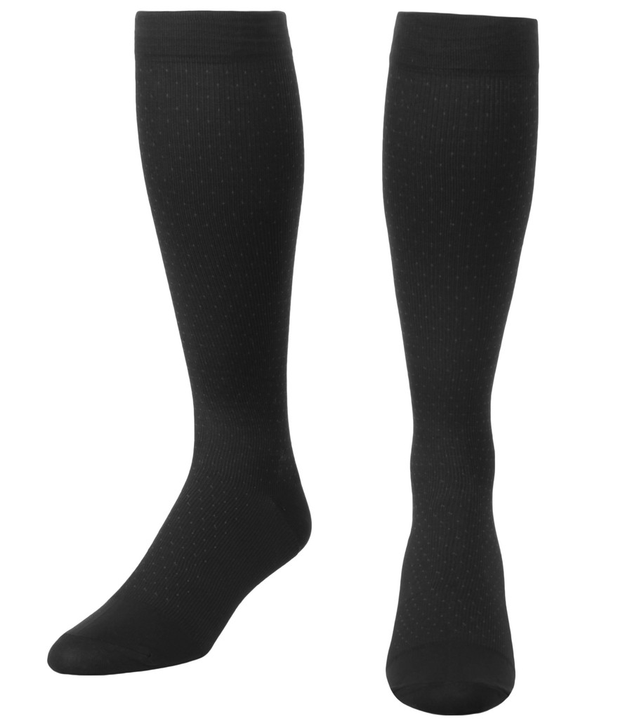 Mojo Dress - Men's Microfiber Pin Dot Pattern Sock -- Medium Support (15-20mmHg)
