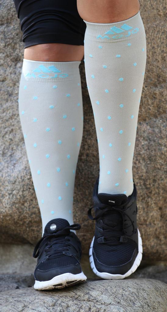 Gray Essential Polka Dot Compression Socks