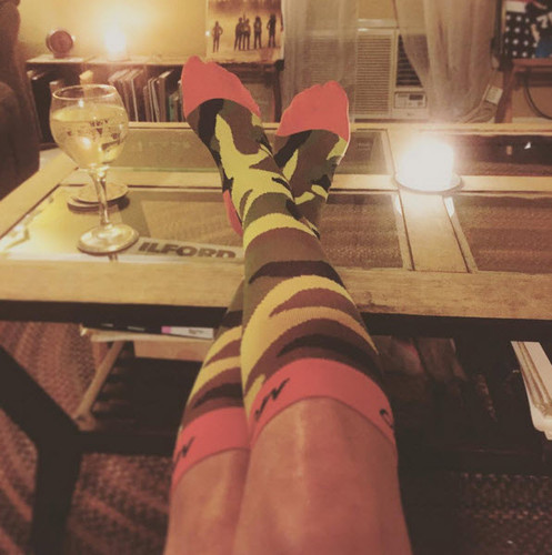 Mojo Instagram Winner @southlightstudio wearing Mojo Special Edition Camo Compression Socks -- Firm Support (20-30mmHg)