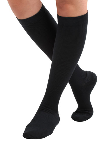 Mojo Basics - Unisex Cotton Compression Socks -- Firm Support (20-30mmHg )