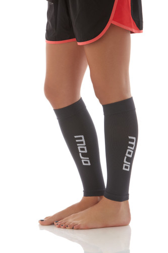Elite Graduated Compression Calf Sleeves - Gray