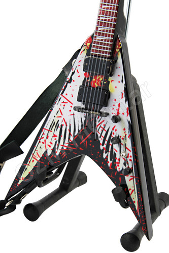 miniature guitar dean dave mustaine signature v angel of death ozminiguitar. Black Bedroom Furniture Sets. Home Design Ideas