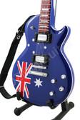 Miniature Guitar Les Paul AUSTRALIA Flag
