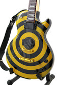 Miniature Guitar Zakk Wylde Yellow Black BULLSEYE