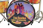The BEATLES Yellow Submarine Miniature Drum Set