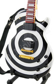 Miniature Guitar Zakk Wylde Black White BULLSEYE