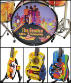 The BEATLES Yellow Submarine Miniature Guitars and Drum Mega Set