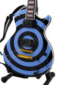 Miniature Guitar Zakk Wylde Blue & Black BULLSEYE