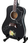 Miniature Acoustic Guitar ELVIS PRESLEY Dove Ebony Custom Black
