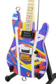 Miniature Guitar Purple Striped Kramer Pacer