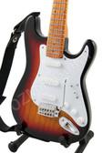 Miniature Guitar Jimi Hendrix Stratocaster Sunburst