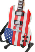 Miniature Guitar USA Flag LP