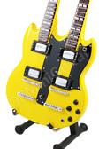 Miniature Guitar Zakk Wylde DOUBLE NECK Yellow