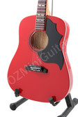 Miniature Acoustic Guitar Gibson Red Color