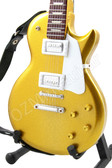 Miniature Guitar Gibson Les Paul Gold with White Pickguard
