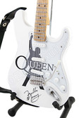 Miniature Guitar Art Series QUEEN White
