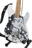 Miniature Guitar Michael Jackson White Signature