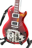 Miniature Guitar Red Skull Les Paul