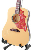 Miniature Acoustic Guitar Elvis Presley Natural