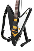 Miniature Guitar Reverse Flying V Black