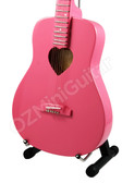 Miniature Acoustic Guitar Pink Love