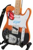 Miniature Guitar Art Series Mick Jagger ROLLING STONES