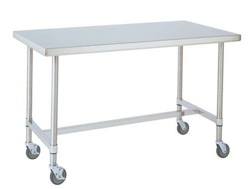 Mwt307hs Mobile Stainless Table 30 Quot Dx72 Quot Wx34 Quot H With H