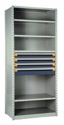 Drawers in Shelving