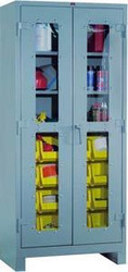 1123V Lyon Heavy Duty Clear View Cabinet with Bins