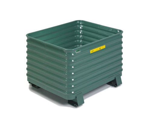 Steel King Round Corner Corrugated Steel Stacking Container