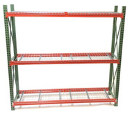 "Complete Pallet Rack Starter Unit 24""x96""x96"" with 3 levels"