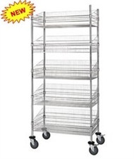 "WRC74-BSK2448C-5 Mobile Post Basket Unit 24"" x 48"" x 80"" High"