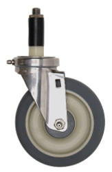 "Stainless Steel Swivel Stem Caster Set 5""x1-1/4"""
