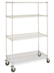 wire shelving cart