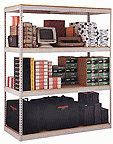 """B4824DR47 Rivet Style Shelving 48""""x24""""x84""""H with board"""