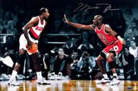 "MICHAEL JORDAN Signed ""Jordan VS. Drexler"" 16x24 UDA LE 223"