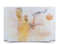 LeBRON JAMES Signed Passing of the Forward Photo UDA.