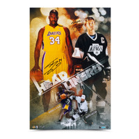 WAYNE GRETZKY & SHAQUILLE O'NEAL Signed Headliners Print LE of 50 UDA.