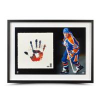 WAYNE GRETZKY Signed Oilers TEGATA Lithograph LE of 99 UDA.