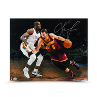 KEVIN LOVE Signed Match Up vs IBAKA Photo UDA.