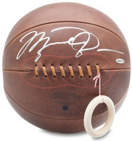MICHAEL JORDAN Autographed Naismith Leather Head Basketball UDA